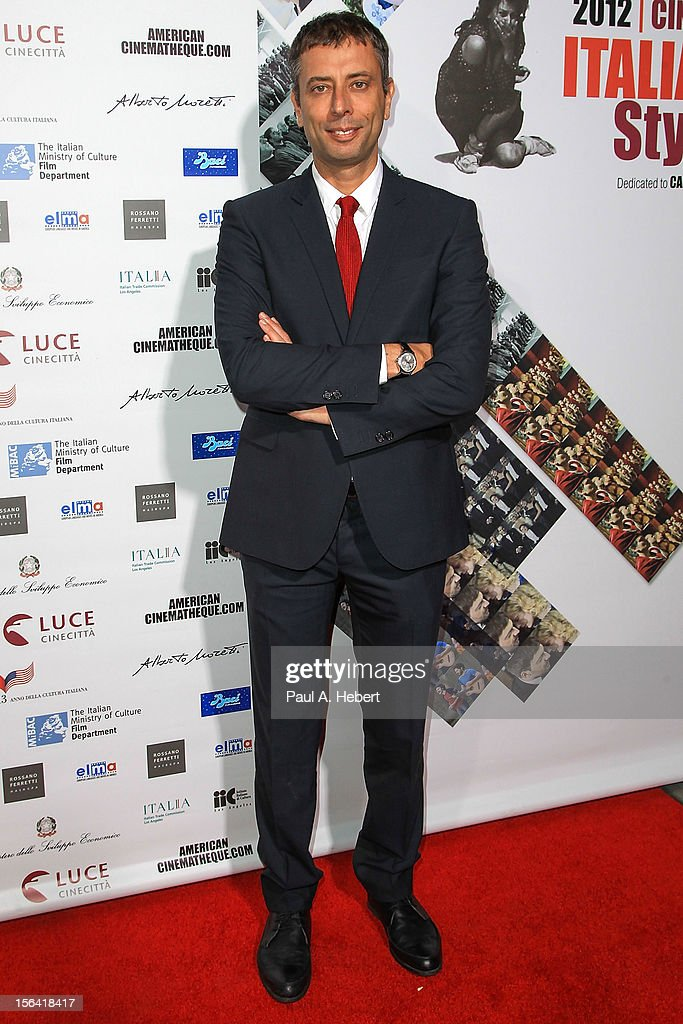 Actor Ivan Cotroneo arrives to the 2012 Cinema Italian Style Opening Night Gala Screening Of 'Caesar Must Die' at the Egyptian Theatre on November 14, 2012 in Hollywood, California.
