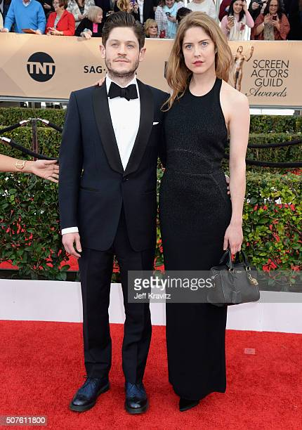 Actor Iwan Rheon and actress Zoe Grisedale attend the 22nd Annual Screen Actors Guild Awards at The Shrine Auditorium on January 30 2016 in Los...