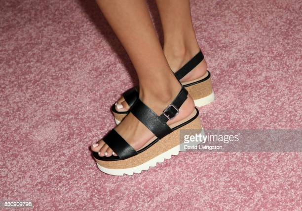 Actor Izabella Alvarez shoe detail attends Day 1 of the 5th Annual Beautycon Festival Los Angeles at the Los Angeles Convention Center on August 12...