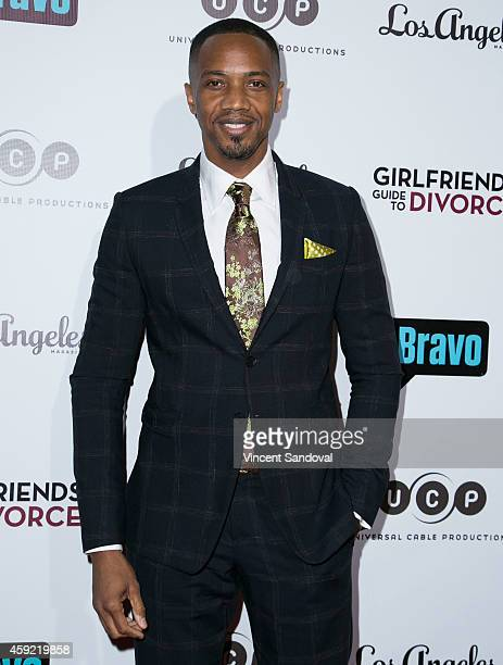 Actor J August Richards attends Bravo's Los Angeles premiere of 'Girlfriends Guide To Divorce' at Ace Hotel on November 18 2014 in Los Angeles...