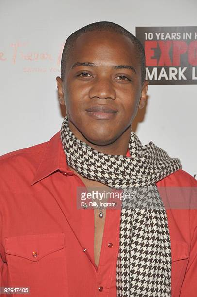 Actor J August Richards attends Mark Liddell's 'Exposed 10 Years In Hollywood Book Launch Party at Lloyd Wright�s Sowden House on November 9 2009 in...