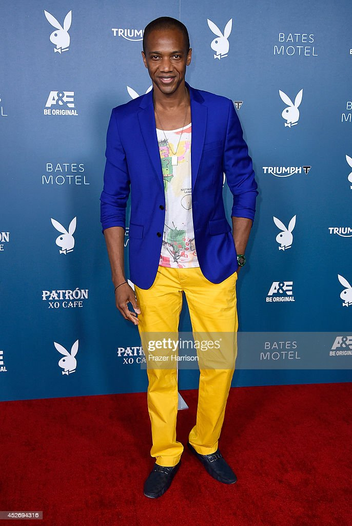 Actor <a gi-track='captionPersonalityLinkClicked' href=/galleries/search?phrase=J.+August+Richards&family=editorial&specificpeople=653424 ng-click='$event.stopPropagation()'>J. August Richards</a> attends Playboy and A&E 'Bates Motel' Event during Comic-Con International 2014 on July 25, 2014 in San Diego, California.