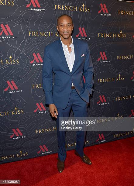 Actor J August Richards attends The Marriott Content Studio's 'French Kiss' film premiere at the Marina del Rey Marriott on May 19 2015 in Marina del...