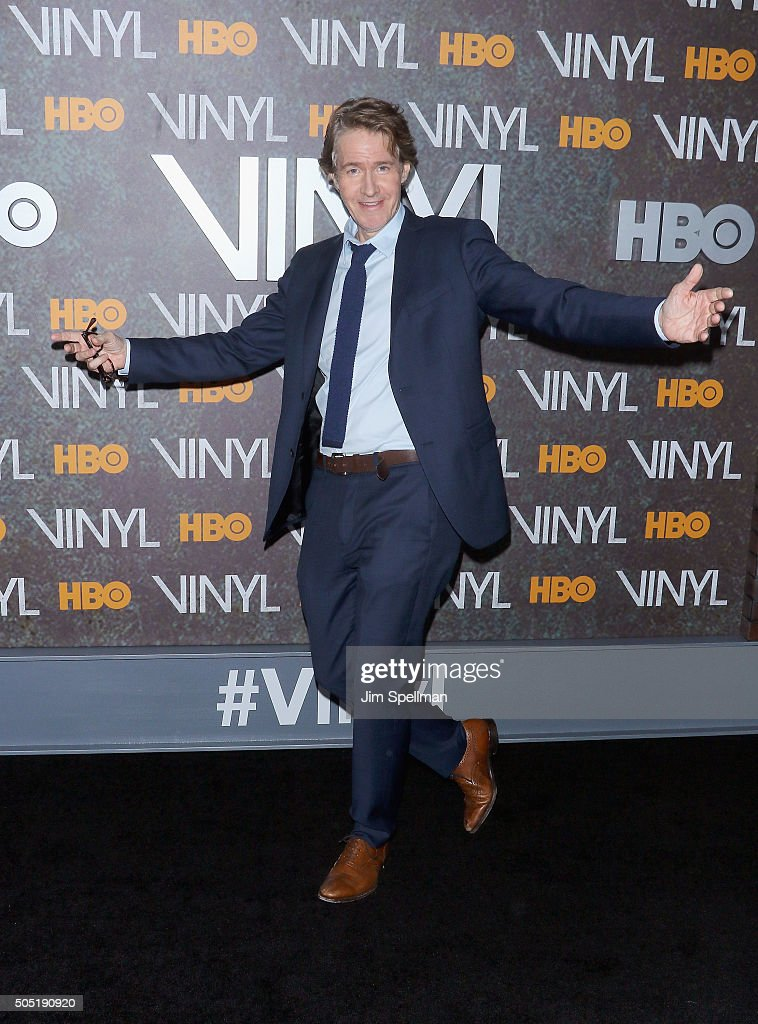 Actor J C MacKenzie attends the 'Vinyl' New York premiere at Ziegfeld Theatre on January 15 2016 in New York City