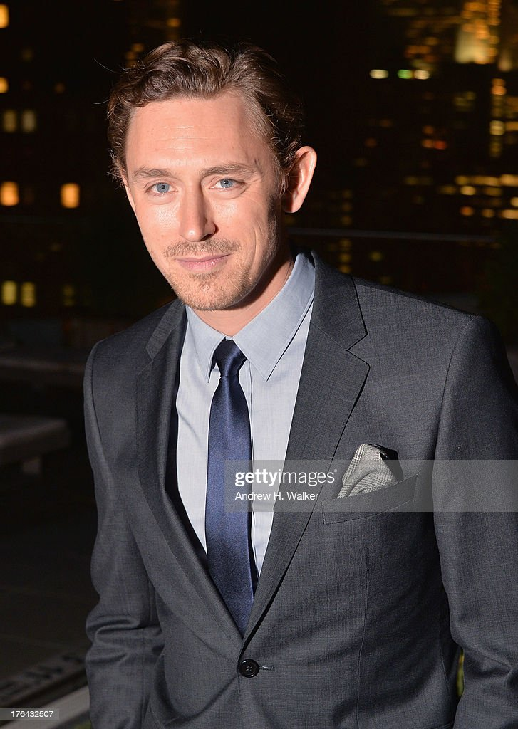 Actor J. J. Feild attends the after party for The Cinema Society with Alice and Olivia screening of Sony Pictures Classics' 'Austenland' at Jimmy At The James Hotel on August 12, 2013 in New York City.