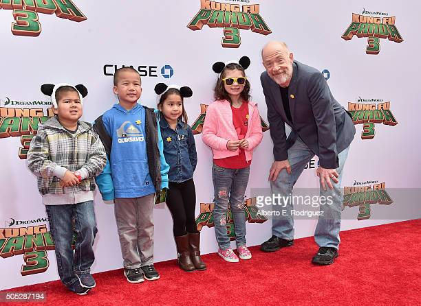 Actor J K Simmons attends the premiere of DreamWorks Animation and Twentieth Century Fox's 'Kung Fu Panda 3' at TCL Chinese Theatre on January 16...