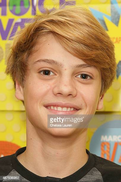 Actor Jace Norman brings the Kids Choice Awards experience to Children's Hospital Los Angeles on March 25 2015 in Los Angeles California