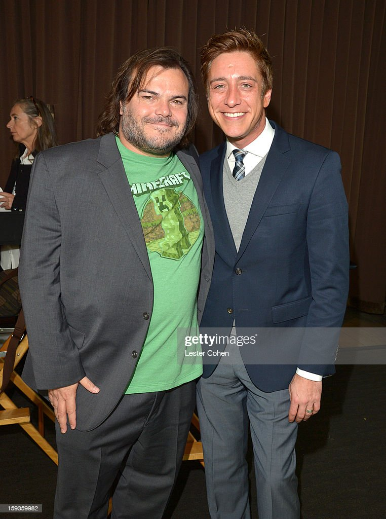Actor <a gi-track='captionPersonalityLinkClicked' href=/galleries/search?phrase=Jack+Black&family=editorial&specificpeople=171453 ng-click='$event.stopPropagation()'>Jack Black</a> and Film Independent Co-President Sean Mc Manus attend the Film Independent Filmmaker Grant And Spirit Awards Nominees Brunch at BOA Steakhouse on January 12, 2013 in West Hollywood, California.