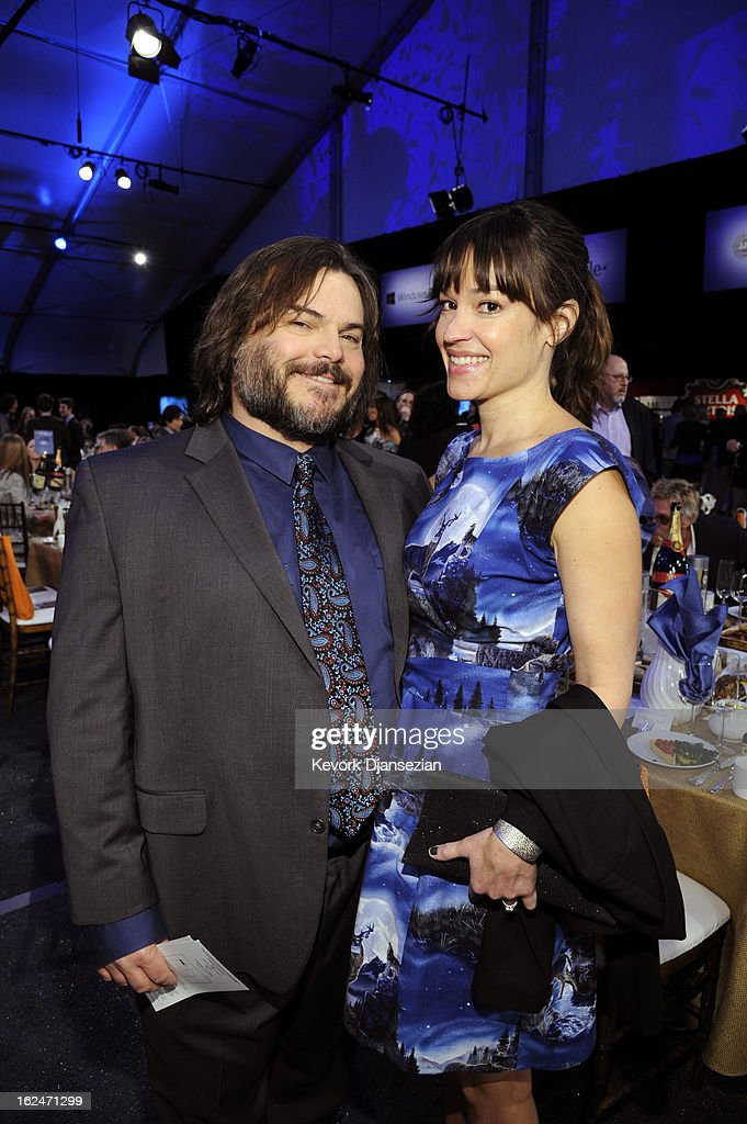 Actor <a gi-track='captionPersonalityLinkClicked' href=/galleries/search?phrase=Jack+Black&family=editorial&specificpeople=171453 ng-click='$event.stopPropagation()'>Jack Black</a> and musician <a gi-track='captionPersonalityLinkClicked' href=/galleries/search?phrase=Tanya+Haden&family=editorial&specificpeople=2127129 ng-click='$event.stopPropagation()'>Tanya Haden</a> attend the 2013 Film Independent Spirit Awards at Santa Monica Beach on February 23, 2013 in Santa Monica, California.