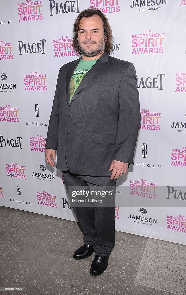 Actor Jack Black arrives at a brunch honoring the nominees for the 2013 Film Independent Filmmaker Grant and Spirit Awards at BOA Steakhouse on January 12, 2013 in West Hollywood, California.