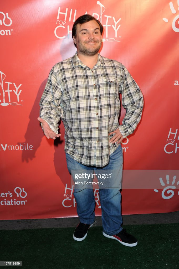 Actor <a gi-track='captionPersonalityLinkClicked' href=/galleries/search?phrase=Jack+Black&family=editorial&specificpeople=171453 ng-click='$event.stopPropagation()'>Jack Black</a> arrives at Hilarity For Charity fundraiser benefiting The Alzheimer's Association at Avalon on April 25, 2013 in Hollywood, California.
