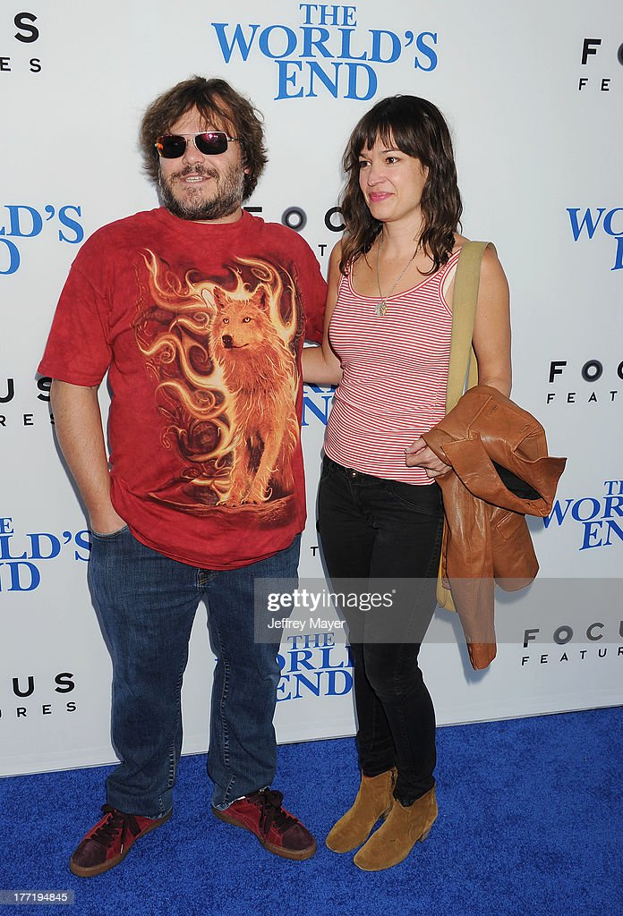 Actor Jack Black arrives at the Los Angeles premiere of 'The World's End' at ArcLight Cinemas Cinerama Dome on August 21, 2013 in Hollywood, California.
