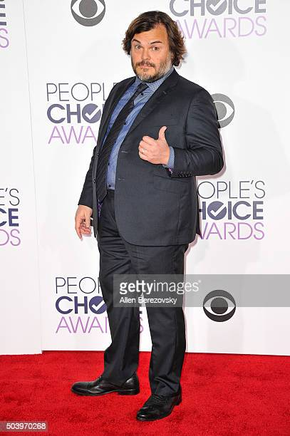 Actor Jack Black arrives at the People's Choice Awards 2016 at Microsoft Theater on January 6 2016 in Los Angeles California