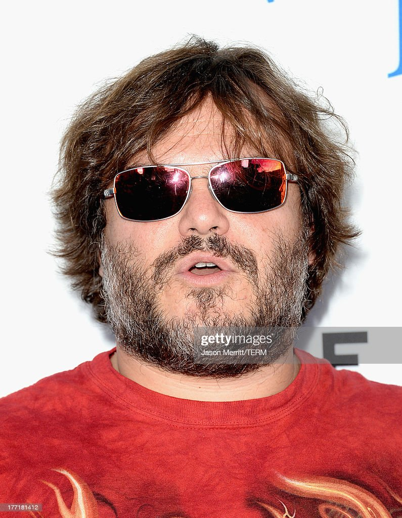 Actor <a gi-track='captionPersonalityLinkClicked' href=/galleries/search?phrase=Jack+Black&family=editorial&specificpeople=171453 ng-click='$event.stopPropagation()'>Jack Black</a> arrives at the premiere of Focus Features' 'The World's End' at ArcLight Cinemas Cinerama Dome on August 21, 2013 in Hollywood, California.