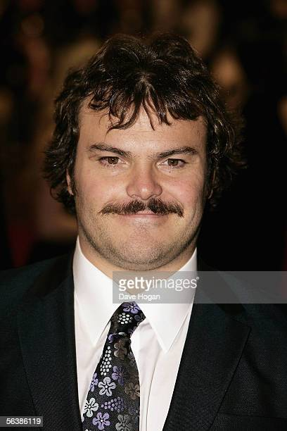 Actor Jack Black arrives at the UK Premiere of 'King Kong' at the Odeon Leicester Square on December 8 2005 in London England