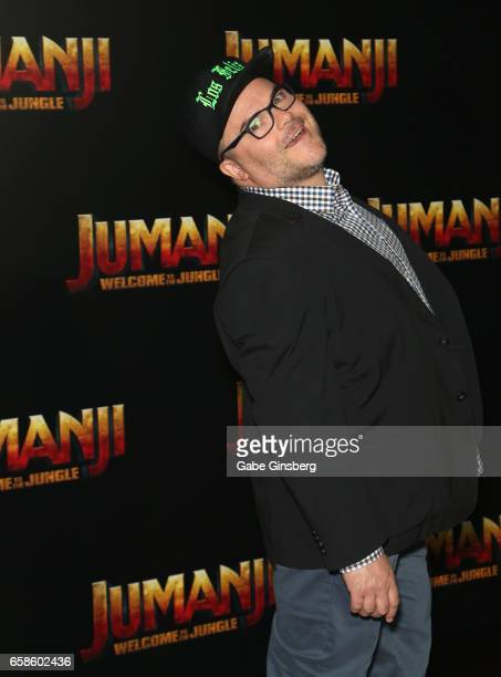 Actor Jack Black attends a photo call for Columbia Pictures' 'Jumanji Welcome to the Jungle' during CinemaCon at Caesars Palace on March 27 2017 in...