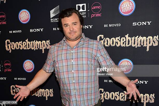 Actor Jack Black attends 'Goosebumps' New York premiere at AMC Empire 25 theater on October 12 2015 in New York City