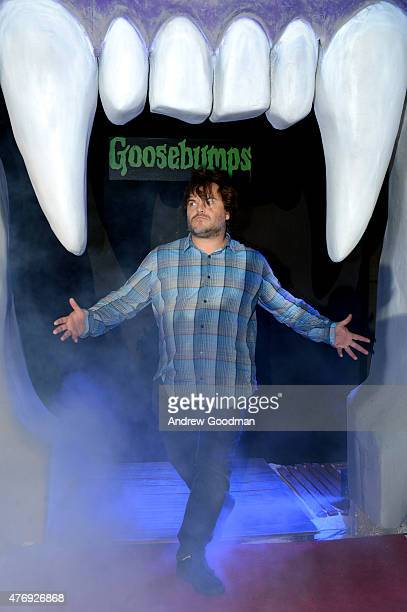 Actor Jack Black attends 'Goosebumps' photo call during Summer Of Sony Pictures Entertainment 2015 at The RitzCarlton Cancun on June 12 2015 in...