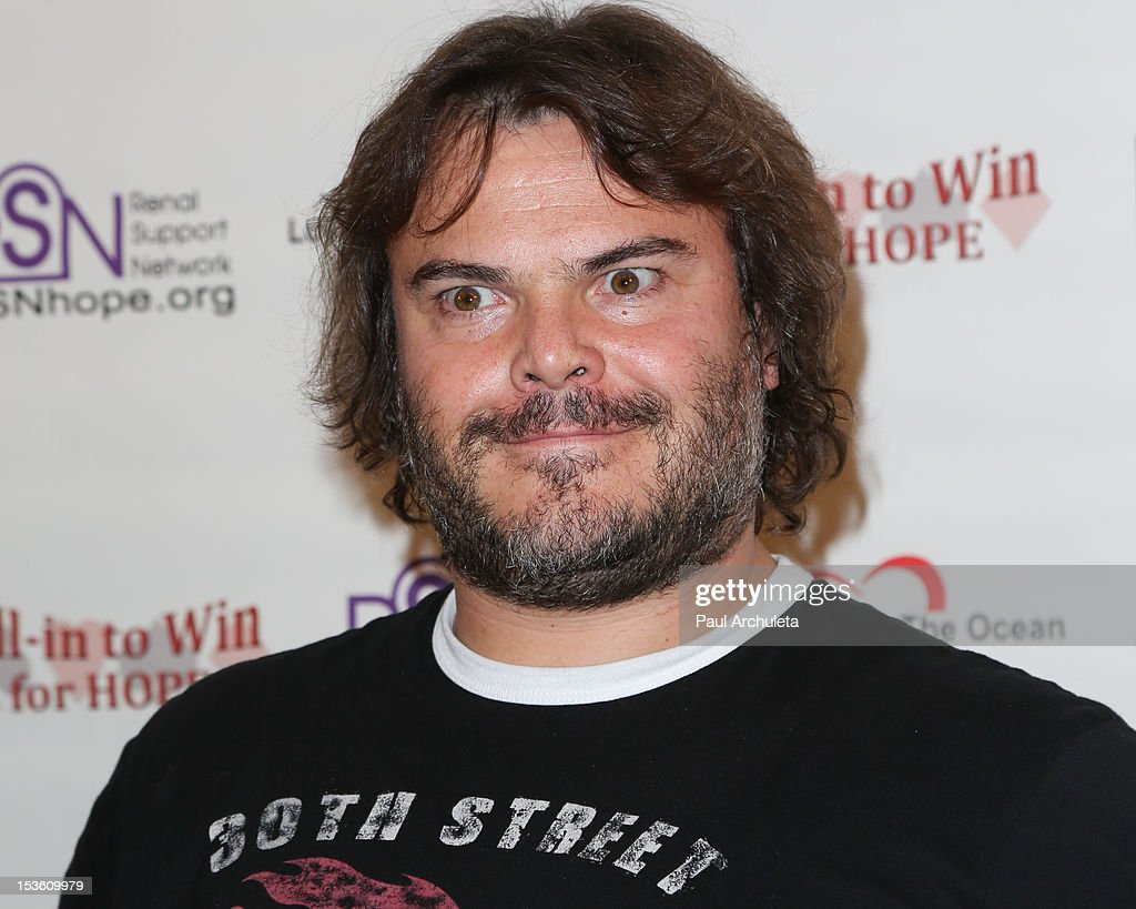Actor <a gi-track='captionPersonalityLinkClicked' href=/galleries/search?phrase=Jack+Black&family=editorial&specificpeople=171453 ng-click='$event.stopPropagation()'>Jack Black</a> attends 'In To Win For Hope' no limit Texas Hold'em celebrity charity poker tournament at The Commerce Casino on October 6, 2012 in City of Commerce, California.