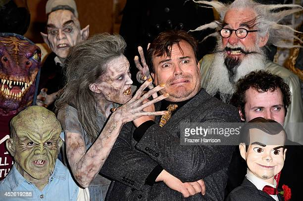 Actor Jack Black attends Sony Pictures Entertainment's 'Goosebumps' and 'Pixels' panel with Jack Black during ComicCon International 2014 at Hilton...