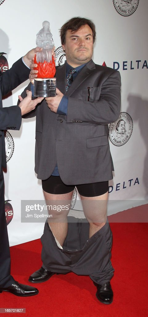 Actor <a gi-track='captionPersonalityLinkClicked' href=/galleries/search?phrase=Jack+Black&family=editorial&specificpeople=171453 ng-click='$event.stopPropagation()'>Jack Black</a> attends The Friars Club Roast Honors <a gi-track='captionPersonalityLinkClicked' href=/galleries/search?phrase=Jack+Black&family=editorial&specificpeople=171453 ng-click='$event.stopPropagation()'>Jack Black</a> at New York Hilton and Towers on April 5, 2013 in New York City.