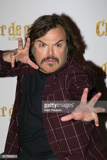 Actor Jack Black attends the 'Goosebumps Chair de Poule' Paris Photocall at Hotel Bristol on February 2 2016 in Paris France