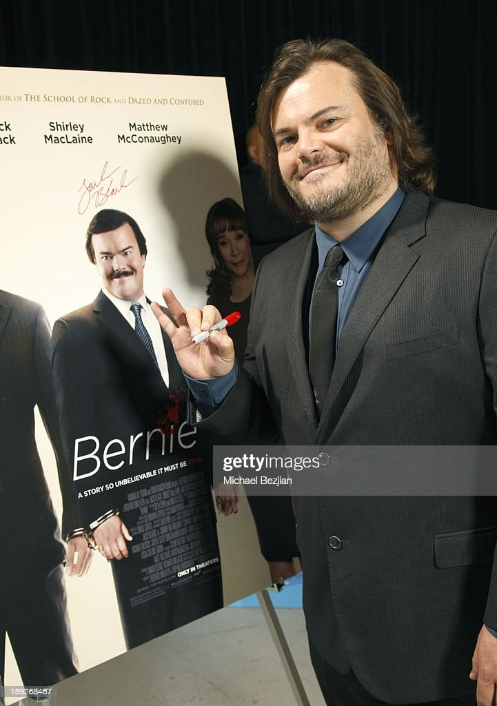 Actor Jack Black attends the poster signing event for charity during the Critics' Choice Movie Awards 2013 at Barkar Hangar on January 10, 2013 in Santa Monica, California.