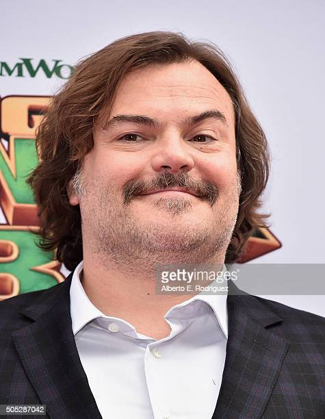 Actor Jack Black attends the premiere of DreamWorks Animation and Twentieth Century Fox's 'Kung Fu Panda 3' at TCL Chinese Theatre on January 16 2016...