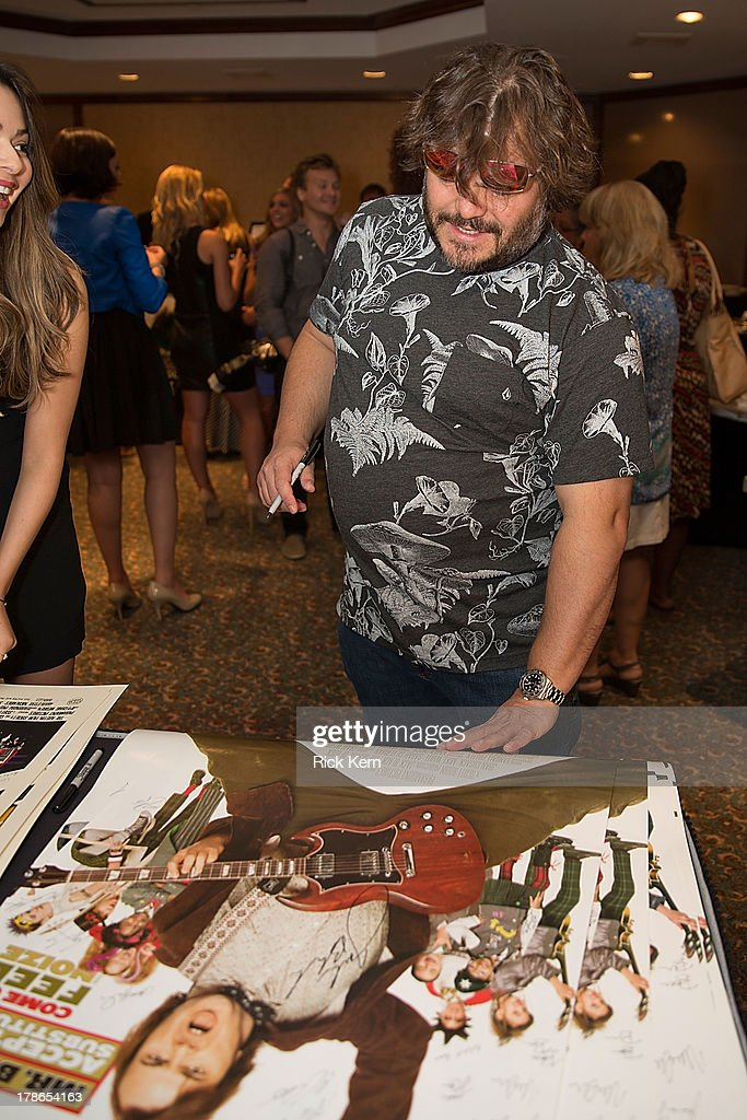 Actor <a gi-track='captionPersonalityLinkClicked' href=/galleries/search?phrase=Jack+Black&family=editorial&specificpeople=171453 ng-click='$event.stopPropagation()'>Jack Black</a> attends the School Of Rock 10-Year cast reception at Omni Downtown on August 29, 2013 in Austin, Texas.