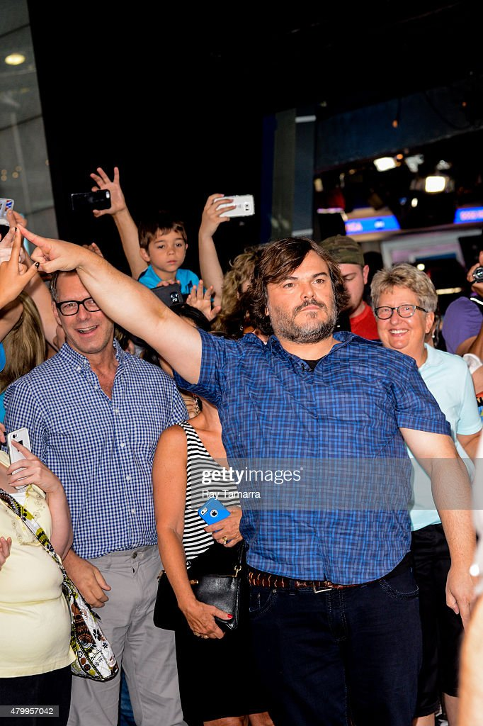Actor Jack Black enters the 'Good Morning America' taping at the ABC Times Square Studios on July 8 2015 in New York City