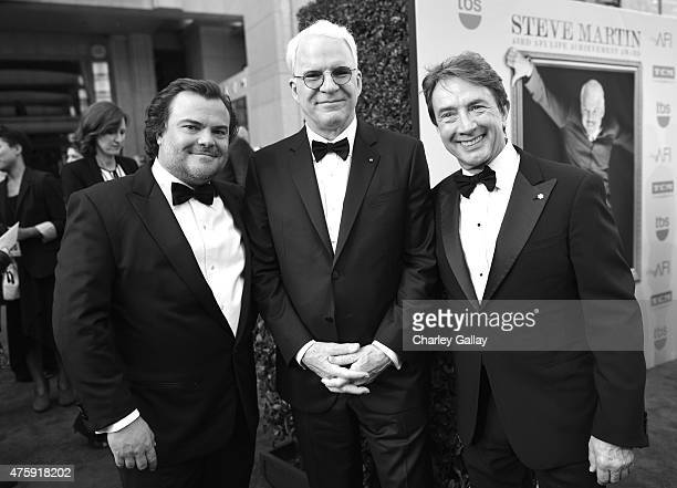 Actor Jack Black honoree Steve Martin and actor Martin Short attend the 2015 AFI Life Achievement Award Gala Tribute Honoring Steve Martin at the...