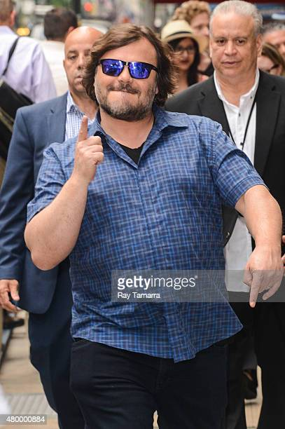 Actor Jack Black leaves the 'Good Morning America' taping at the ABC Times Square Studios on July 8 2015 in New York City