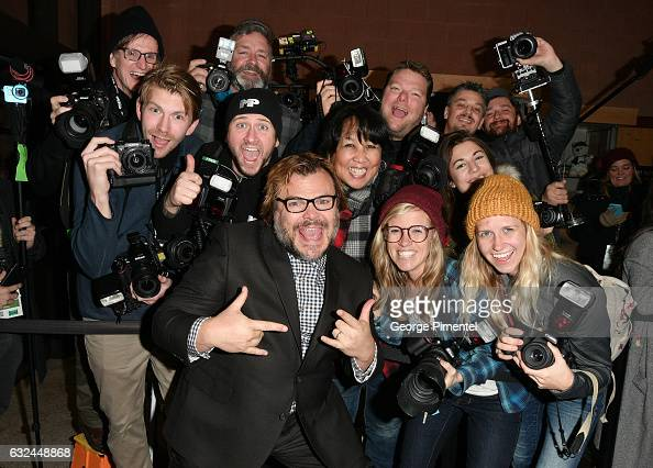 Actor Jack Black poses with the press at the 'The Polka King' Premiere on day 4 of the 2017 Sundance Film Festival at Eccles Center Theatre on...
