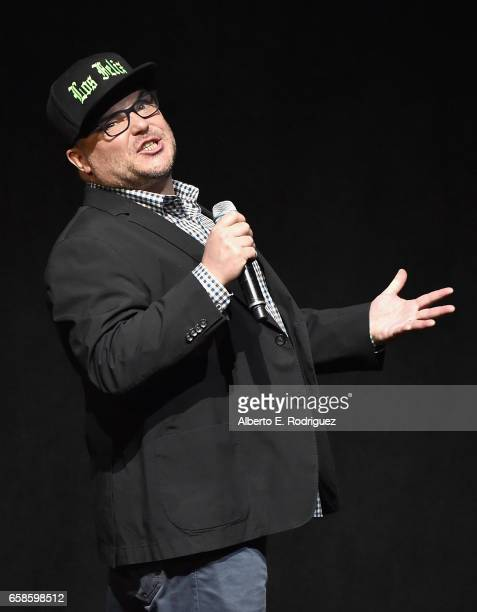Actor Jack Black speaks onstage during the CinemaCon 2017 Gala Opening Night Event Sony Pictures Highlights its 2017 Summer and Beyond Films for...