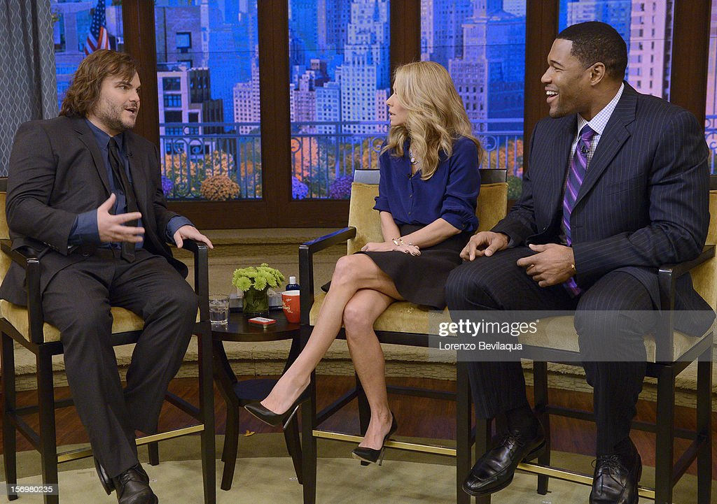 MICHAEL -11/26/12 - Actor Jack Black stops by the newly-rechristened syndicated talk show, LIVE with Kelly and Michael,' distributed by Disney-ABC Domestic Television. STRAHAN