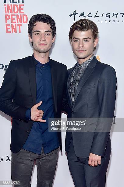 Actor Jack Brett Anderson and Garrett Clayton attend the premieres of 'Don't Hang Up' and SBF 'Night Stalker' during the 2016 Los Angeles Film...