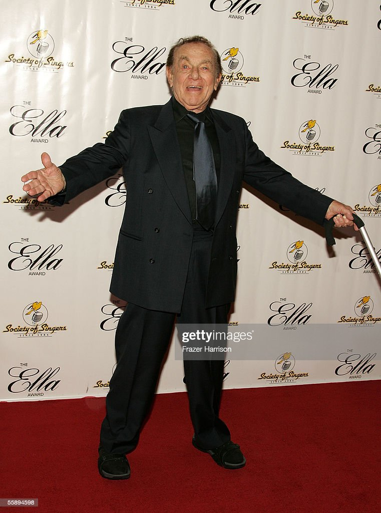 Actor Jack Carter arrives at the Society of Singers 14th Annual Ella Award honoring Sir Elton John at the Beverly Hilton Hotel on October 10, 2005 in Beverly Hills, California.