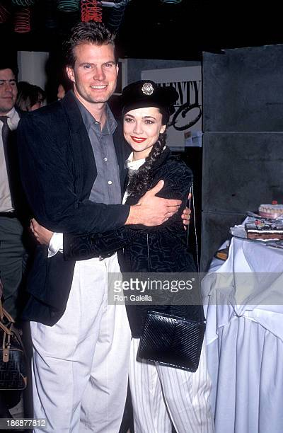 Actor Jack Coleman and actress Emma Samms attends the People for a Caring Earth Hosts a Benefit Party for the Los Angeles Mission Shelter...