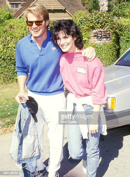 Actor Jack Coleman and Actress Teri Garber attend the Henry Winkler's Party for the Seventh Annual Celebrity Day at MacLaren Children's Center on...