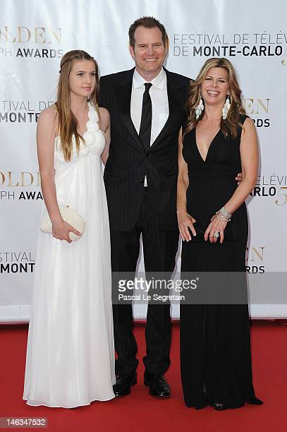 Actor Jack Coleman and guest arrive at the Closing Ceremony of the 52nd Monte Carlo TV Festival on June 14 2012 in MonteCarlo Monaco