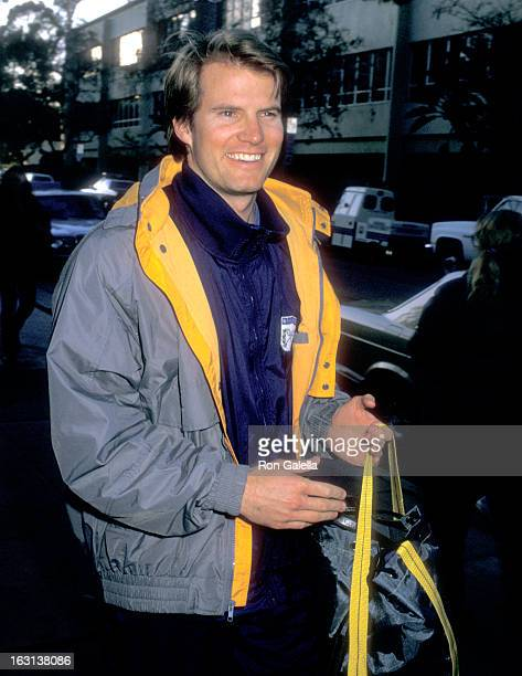 Actor Jack Coleman attends the 18th Annual Beverly Hills Police Department/Celebrity Charity Basketball Game on February 26 1983 at Beverly Hills...