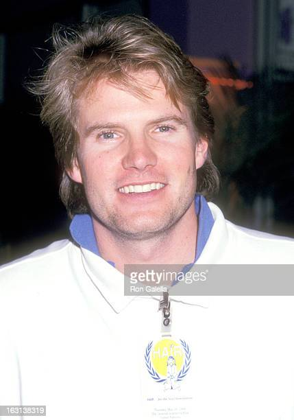 Actor Jack Coleman attends the Rehearsal Party for the 'Hair' Stage Performance to Benefit Children with AIDS on May 25 1988 at Chita's in New York...