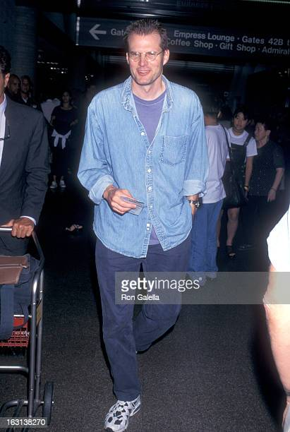 Actor Jack Coleman on July 24 1997 arriving at the Los Angeles International Airport in Los Angeles California