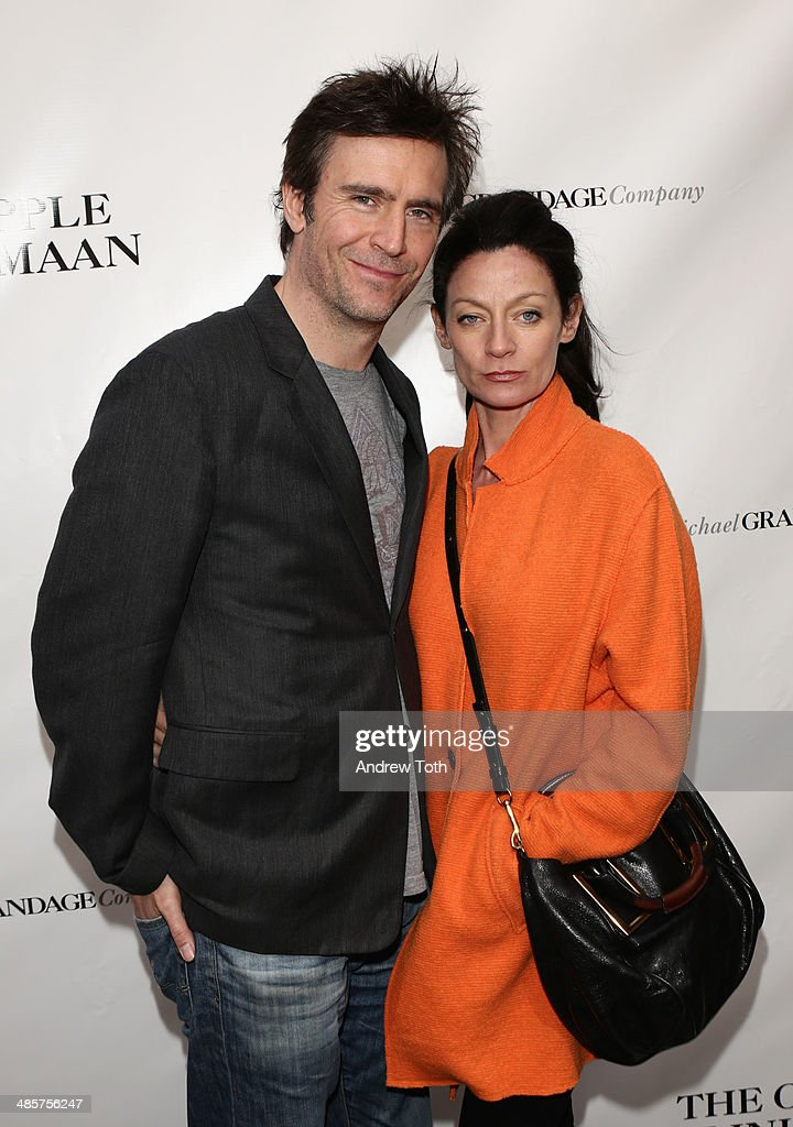 Actor Jack Davenport and guest attend the Broadway opening night of 'The Cripple Of Inishmaan' at the Cort Theatre on April 20 2014 in New York City