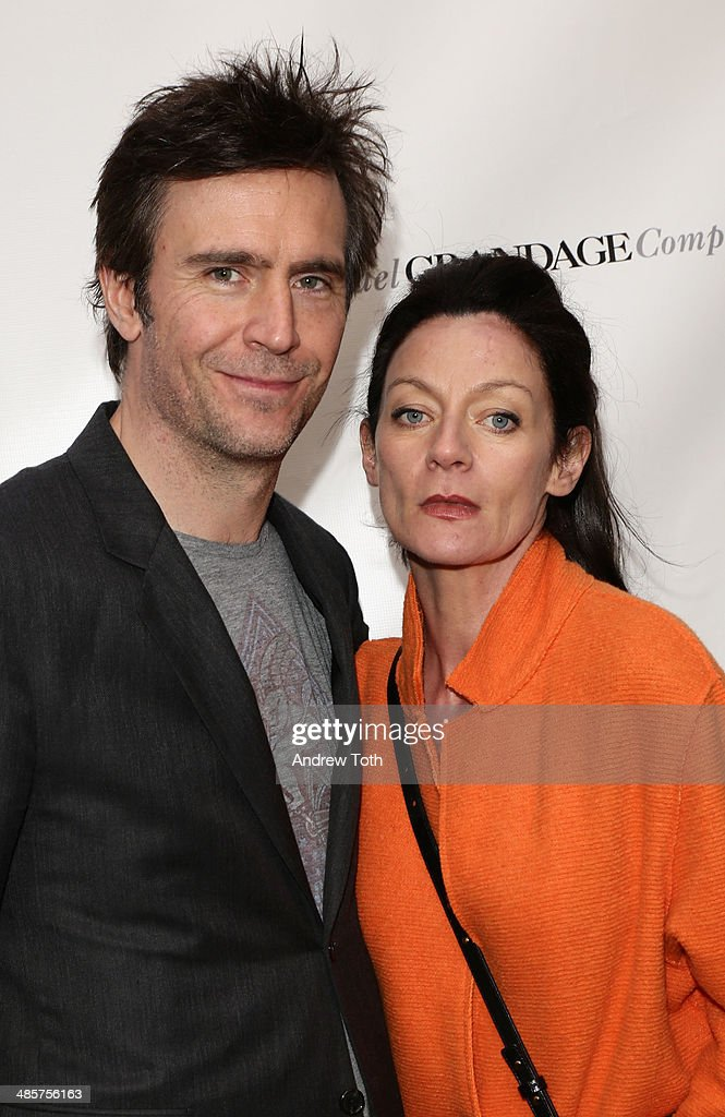 Actor Jack Davenport and Michelle Gomez attend the Broadway opening night of 'The Cripple Of Inishmaan' at the Cort Theatre on April 20 2014 in New...