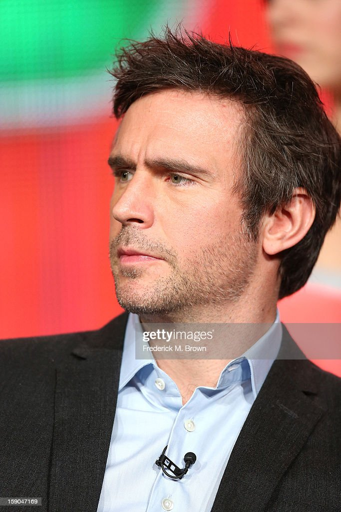 Actor Jack Davenport speaks onstage at the 'Smash' panel discussion during the NBCUniversal portion of the 2013 Winter TCA Tour- Day 3 at the Langham Hotel on January 6, 2013 in Pasadena, California.