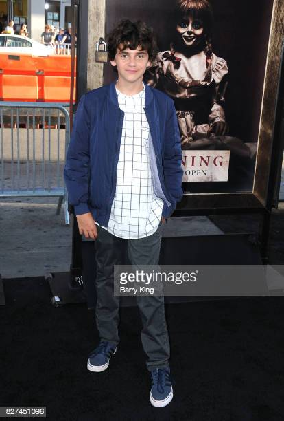 Actor Jack Dylan Grazer attends the premiere of New Line Cinema's' 'Annabelle Creation' at TCL Chinese Theatre on August 7 2017 in Hollywood...