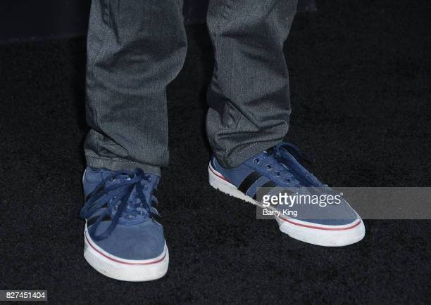 Actor Jack Dylan Grazer shoe detail attends the premiere of New Line Cinema's' 'Annabelle Creation' at TCL Chinese Theatre on August 7 2017 in...