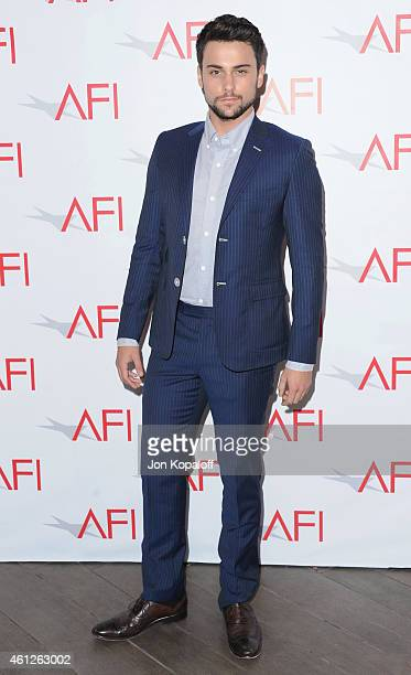 Actor Jack Falahee arrives at the 15th Annual AFI Awards at Four Seasons Hotel Los Angeles at Beverly Hills on January 9 2015 in Beverly Hills...