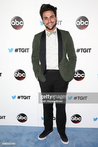 Actor Jack Falahee attends the TGIT Premiere event at Palihouse on September 20 2014 in West Hollywood California
